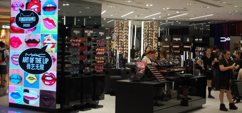 cosmetic products in the luxury segment in China