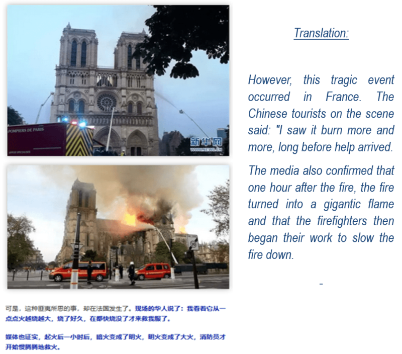 Chinese article about Notre Dame