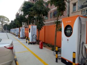 EV charging stantions in China