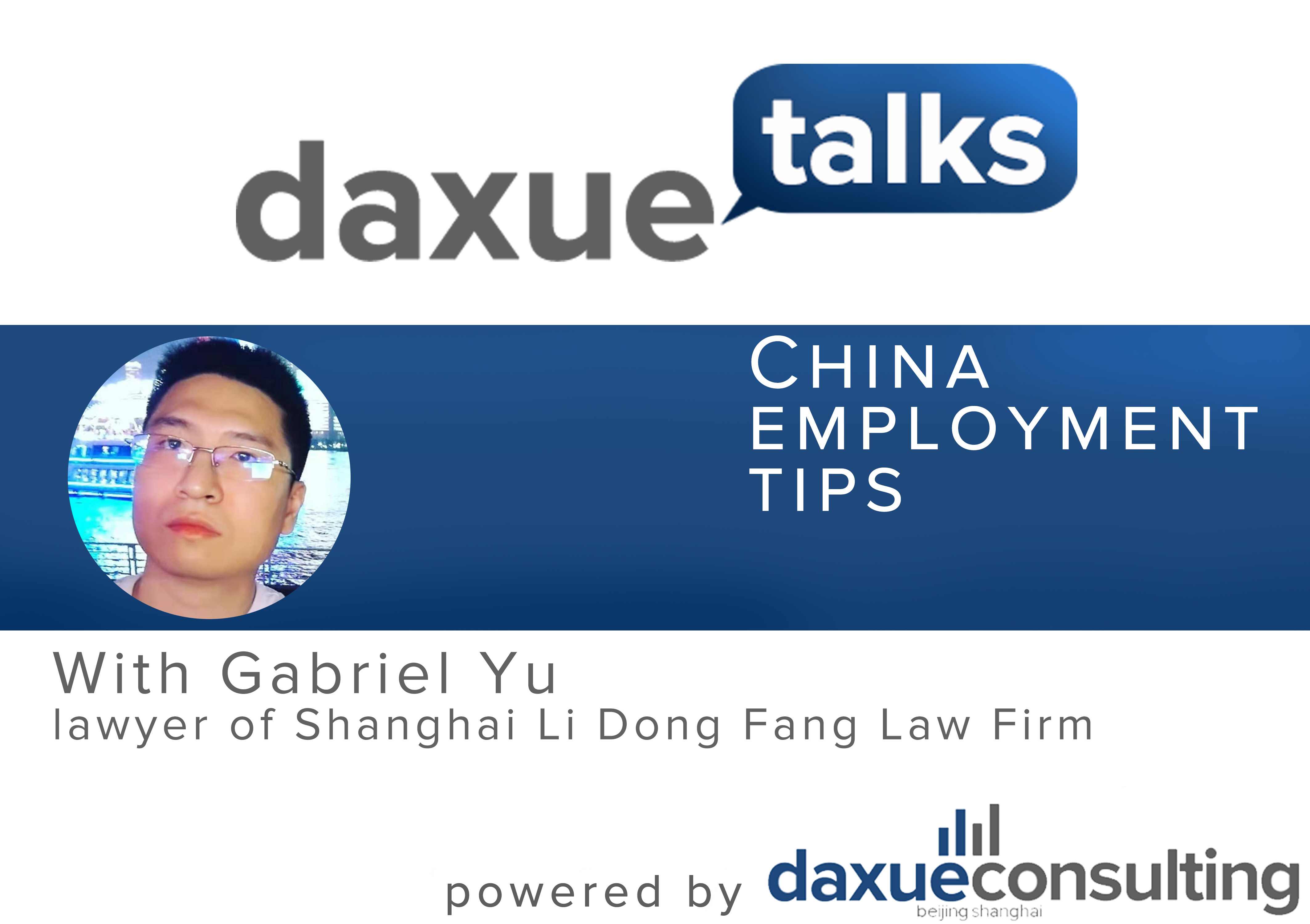 China employment tips