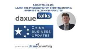 shutting down a business in China