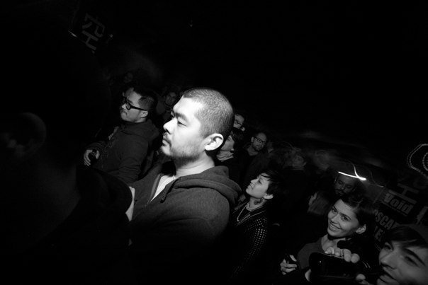 Gary wang partying at 'The Shelter' a hip-hop club in a Beijing's bomb shelter
