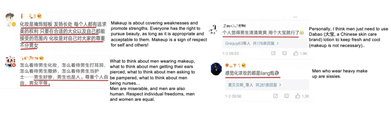 discussing whether men should wear makeup