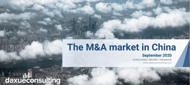 The M&A market in China report