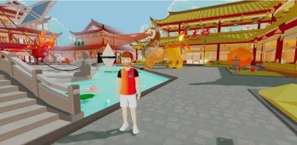 Virtual world of Dragon City on Decentraland NFT market in China