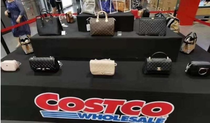 example of the range of designer bags available to bulk buy Costco in China